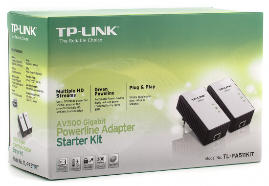 Адаптеры TP-Link TL-PA511KIT для организации домашних сетей